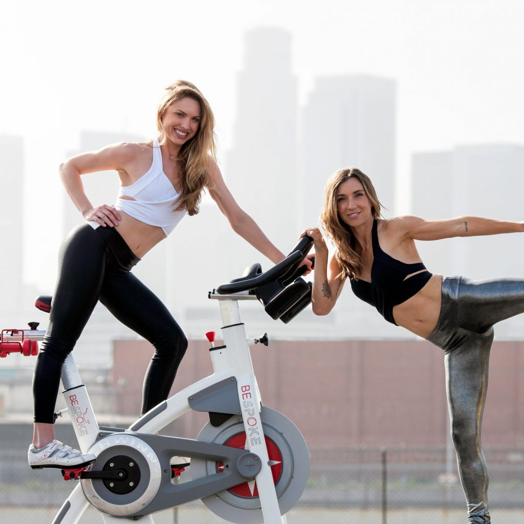 Image of Fitness Instructors with Indoor Cycling Bike