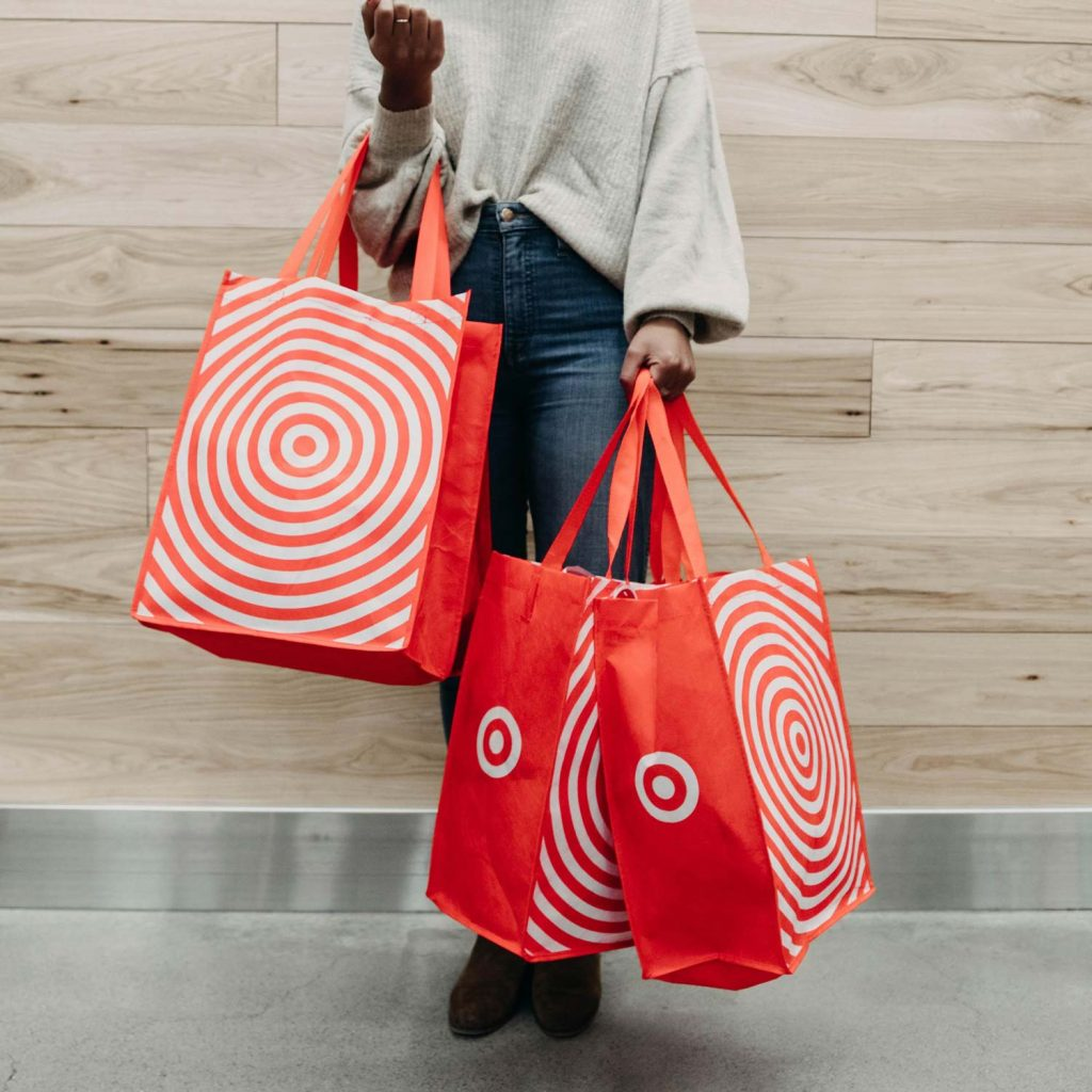 Image of Woman with Target Shopping Bags