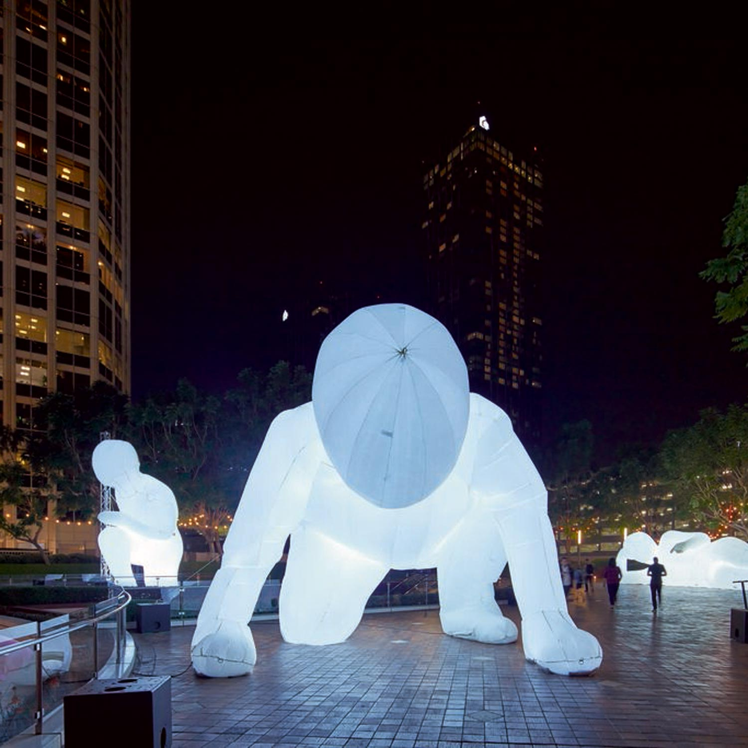 Image of Internally Lit Inflatable Figures by Amanda Parer