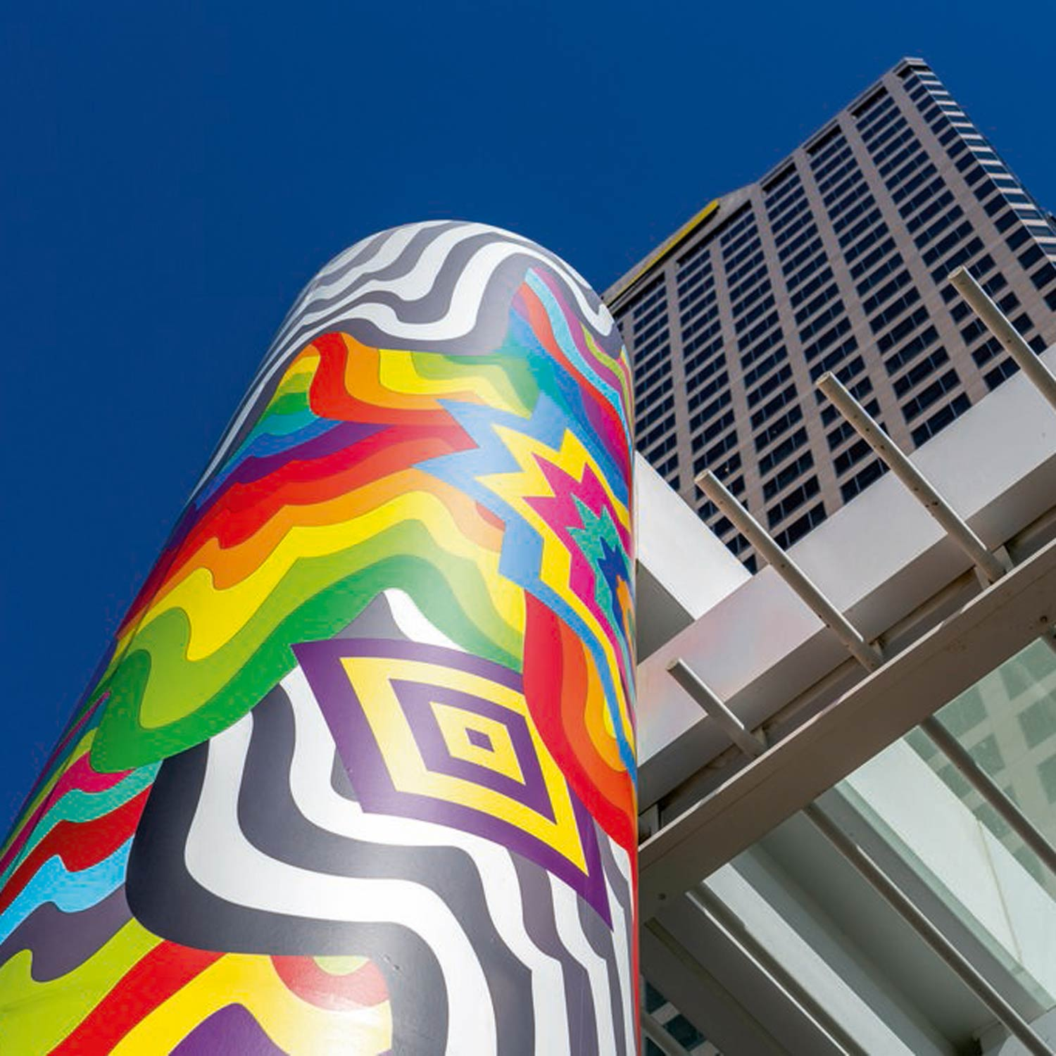 Image of FIGat7th Column Wrapped in Art by Jen Stark