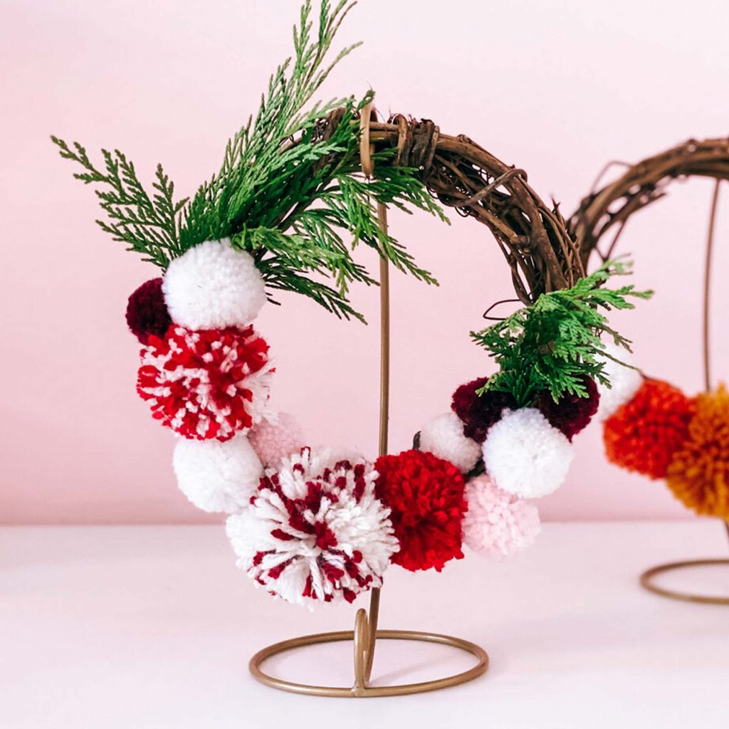 Crafting & Cocktails: Pom Pom Wreath